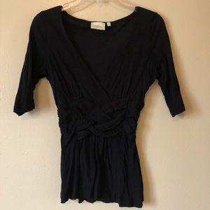Anthropologie Deletta knot front top